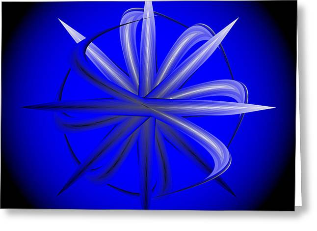 Greeting Card featuring the digital art Fleuron Composition No. 77 by Alan Bennington