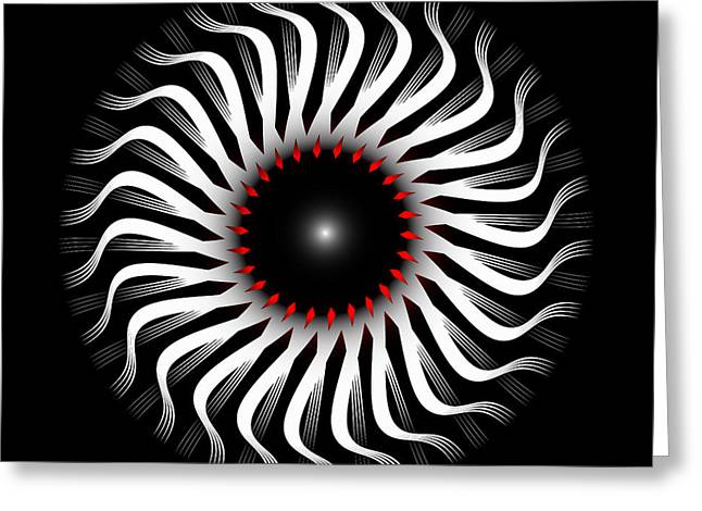 Greeting Card featuring the digital art Fleuron Composition No. 82 by Alan Bennington