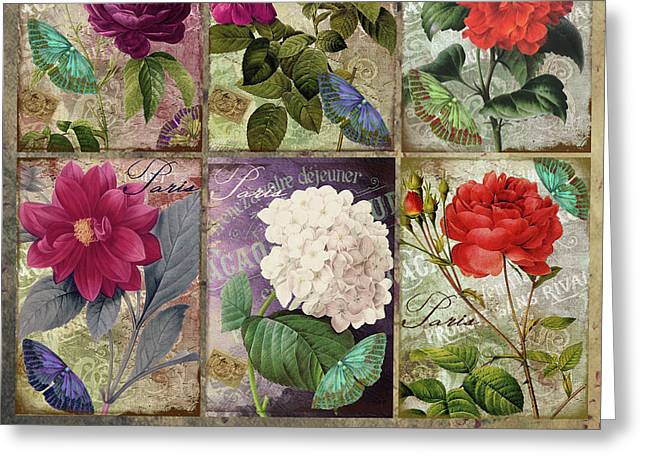 Fleurs De Paris Pastiche Greeting Card