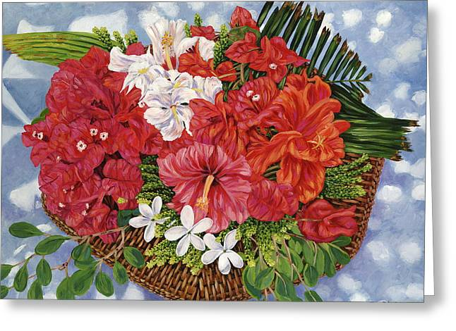 Fleurs De Passion Greeting Card by Danielle  Perry
