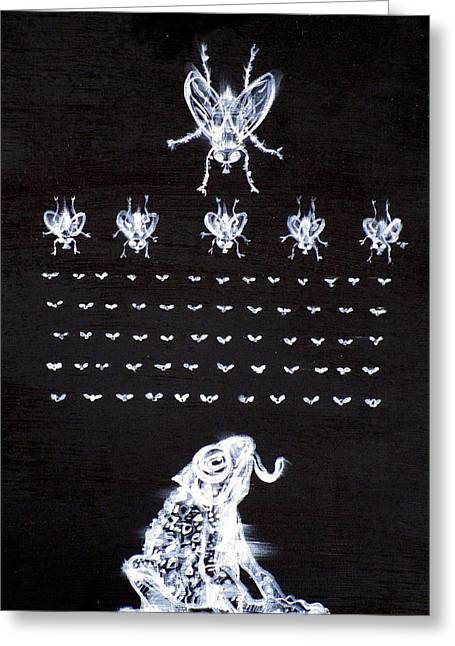 Flies Invaders Greeting Card by Fabrizio Cassetta