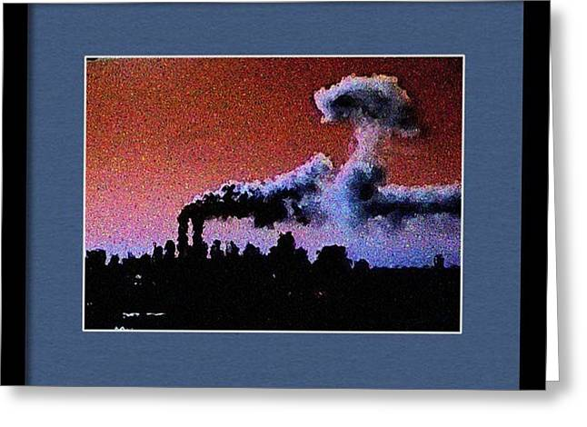 Flight 175 Mushroom Cloud Framed Example Greeting Card by James Kosior
