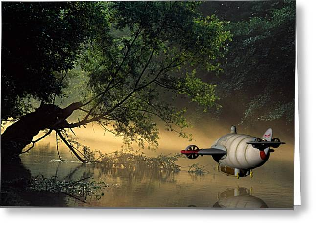 Flight 777 On Time Greeting Card by Marvin Blaine
