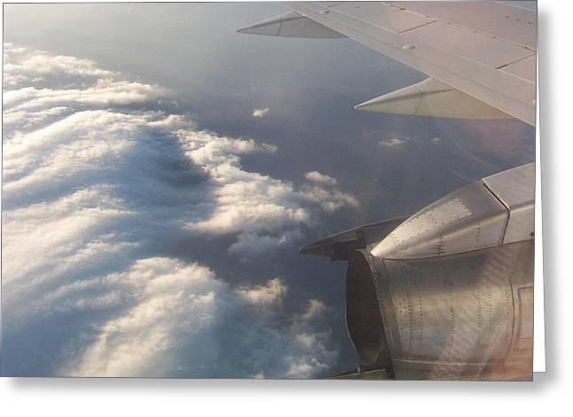 Flight Greeting Card by Adam Schwartz