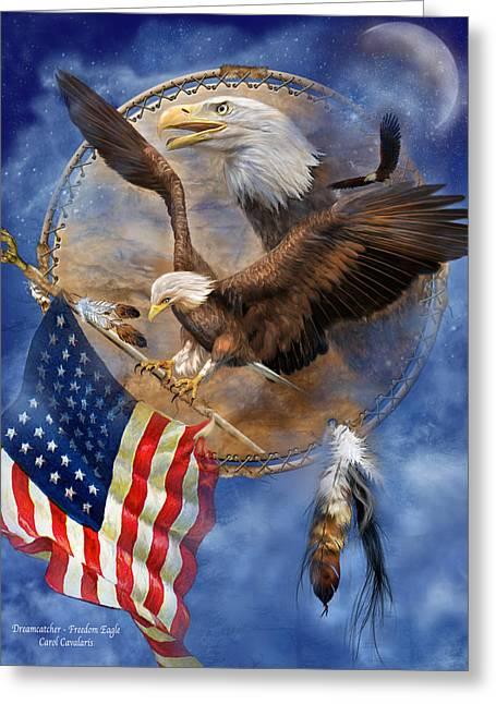 Flight For Freedom Greeting Card by Carol Cavalaris
