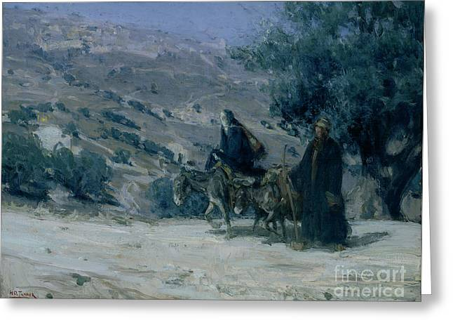 Flight Into Egypt Greeting Card by Henry Ossawa Tanner