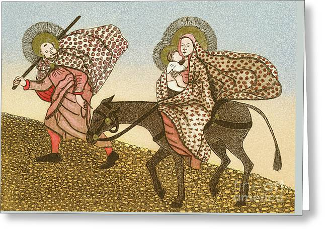 Flight Into Egypt II  Greeting Card by Gillian Lawson