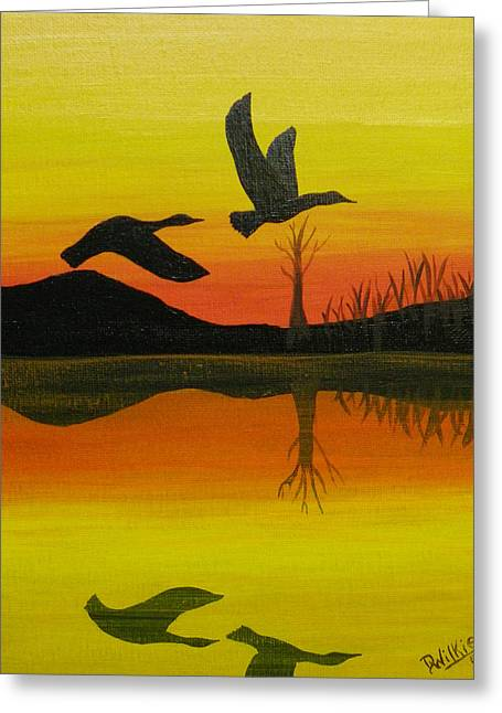 Flight Of Freedom Greeting Card by Doug Wilkie