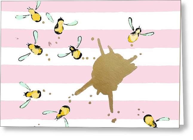 Flight Of The Bumblebeee No 21 Greeting Card