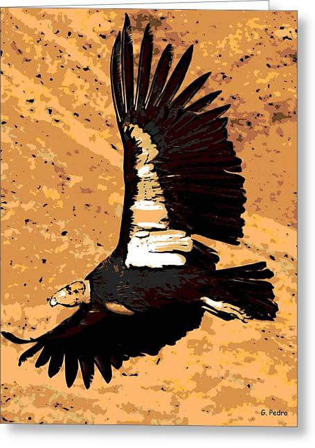 Flight Of The Condor Greeting Card by George Pedro
