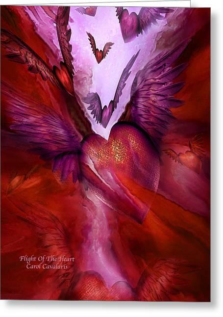 Flight Of The Heart Greeting Card by Carol Cavalaris
