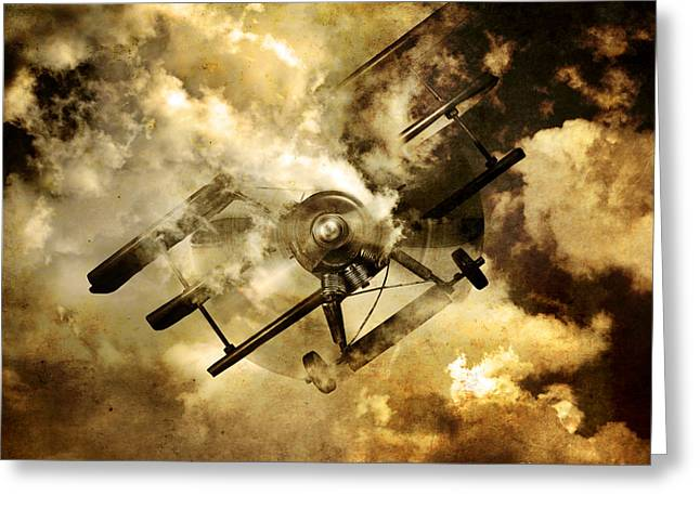 Flight Path Of Disaster Greeting Card by Jorgo Photography - Wall Art Gallery