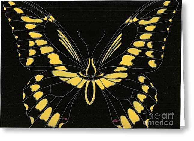 Flight Series 11 Yellow Tail Greeting Card by Iamthebetty Tbone