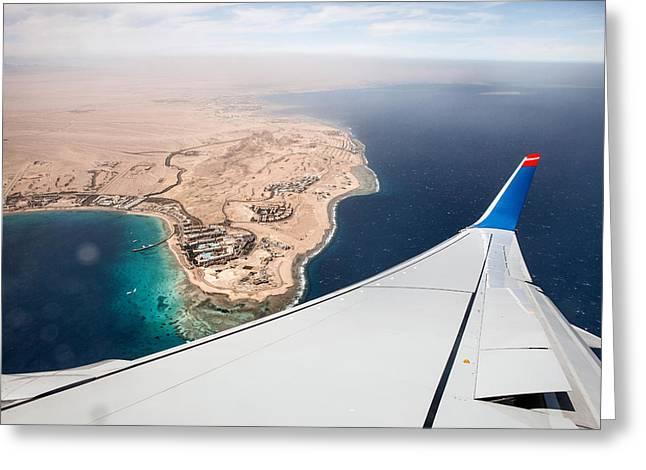 Flight To Egypt Greeting Card by Nailia Schwarz