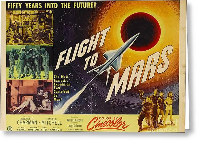 Flight To Mars 1951 Sci Fi Movie Poster Greeting Card by R Muirhead Art