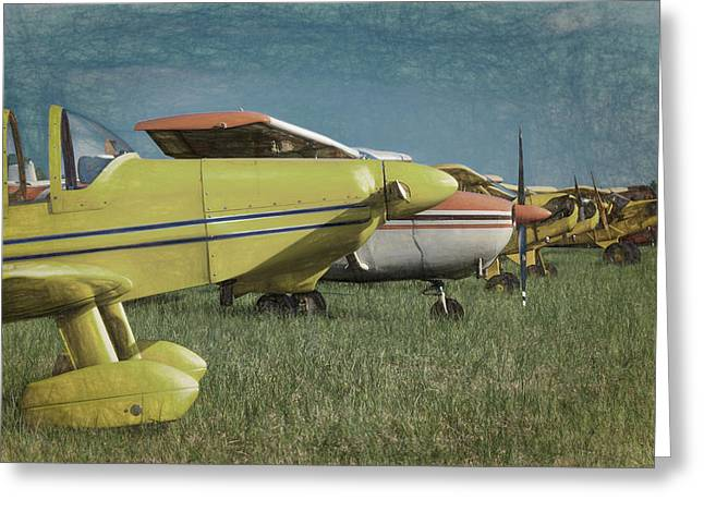 Greeting Card featuring the photograph Flightline by James Barber