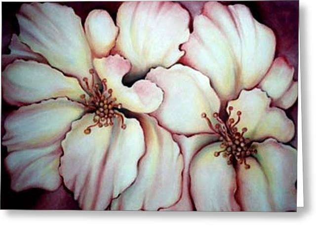 Flighty Floral Greeting Card by Jordana Sands