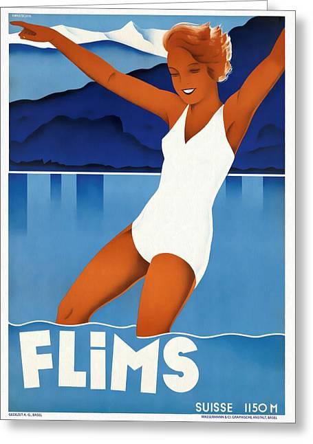 Flims - Switzerland - Restored Greeting Card
