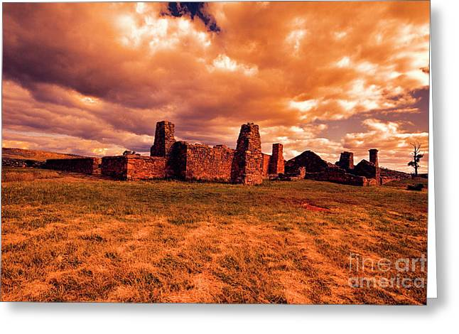 Greeting Card featuring the photograph Flinders Ranges Ruins by Douglas Barnard