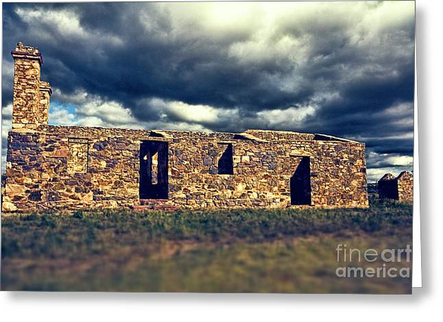 Greeting Card featuring the photograph Flinders Ranges Ruins V2 by Douglas Barnard