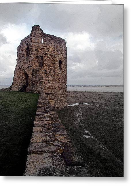 Flint Castle 4 Greeting Card by Brainwave Pictures