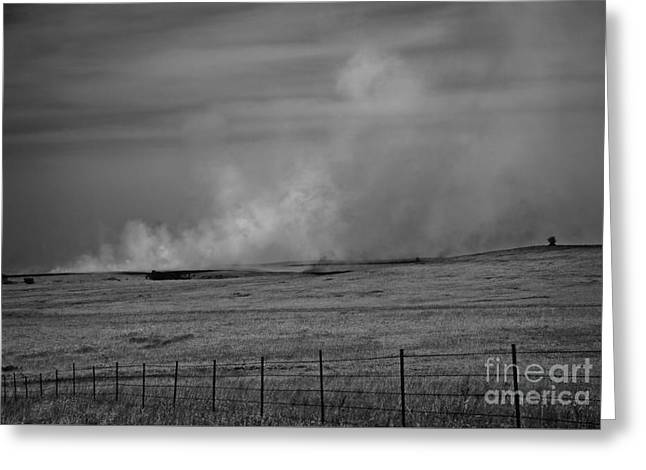Flint Hills Burning Greeting Card