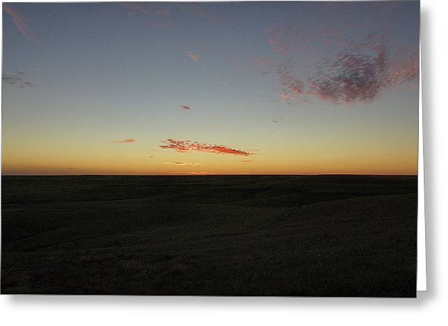 Greeting Card featuring the photograph Flint Hills Dusk by Thomas Bomstad