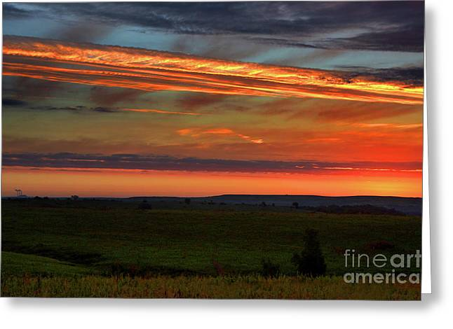 Flint Hills Sunrise Greeting Card