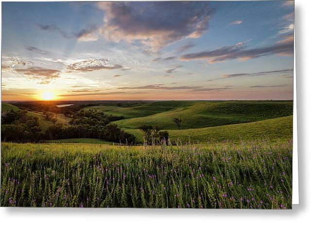 Flint Hills Sunset Greeting Card