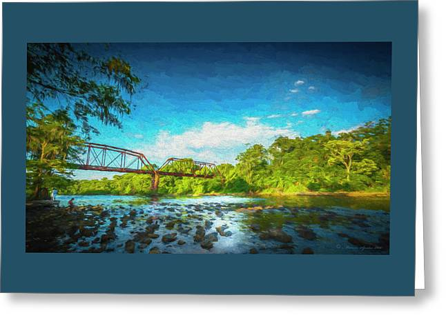 Flint River Greeting Card by Marvin Spates