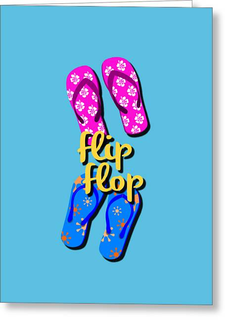 Flip Flop Cell Design Greeting Card