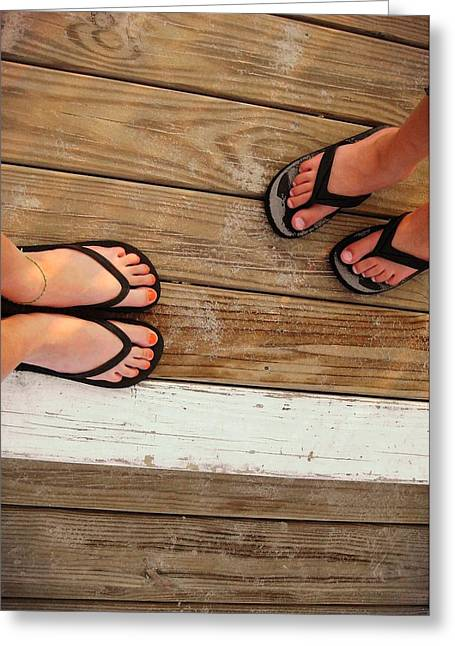 Flip Flops  Greeting Card by JAMART Photography