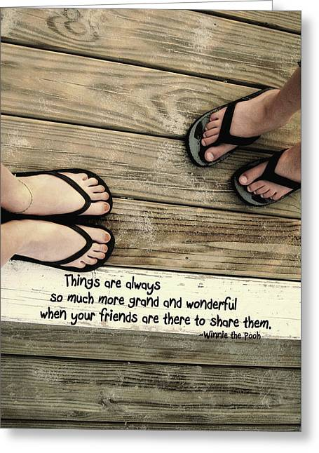 Flip Flops Quote Greeting Card by JAMART Photography