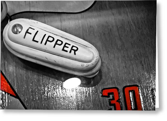 Flipper 30 - Pinball  Greeting Card