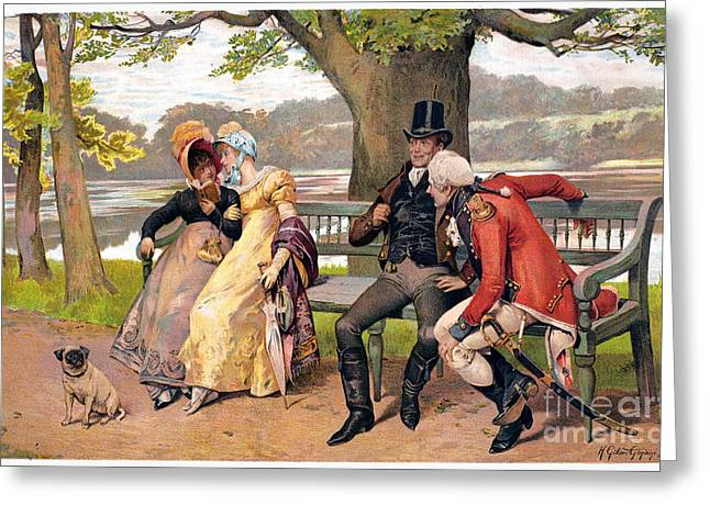 Flirtation, C1810 Greeting Card by Granger