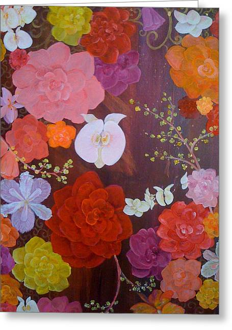 Flirty Blossoms Greeting Card by Sabra Chili