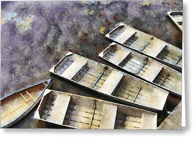 Float And Boat Greeting Card by Jim Proctor
