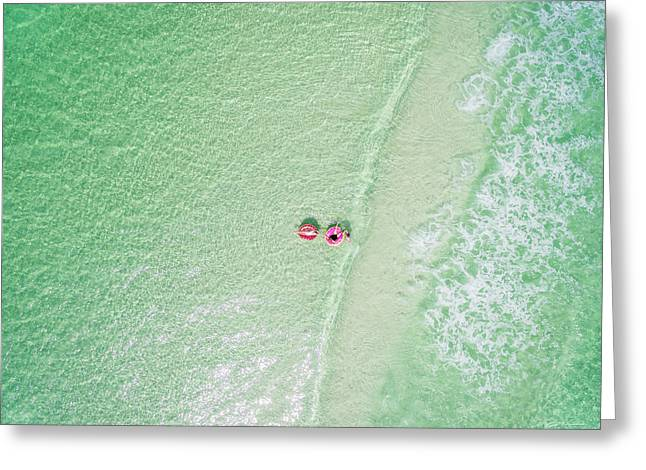 Float The Day Away On Gentle Waves Greeting Card