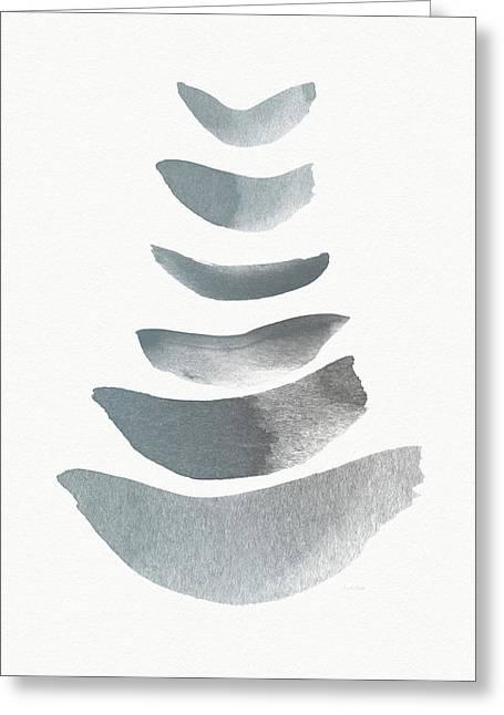 Floating 1- Zen Art By Linda Woods Greeting Card