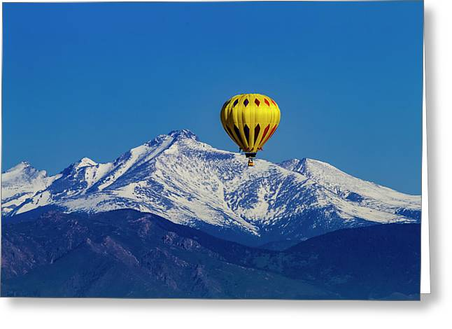 Floating Above The Mountains Greeting Card by Teri Virbickis