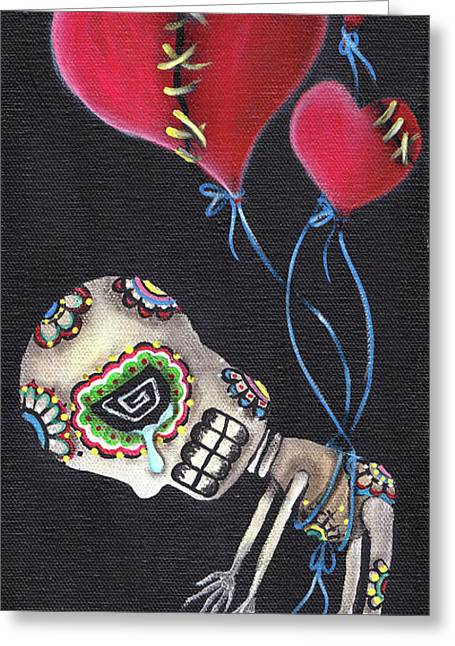 Valentines Day Greeting Cards - Floating Away Greeting Card by  Abril Andrade Griffith