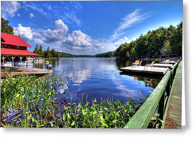 Greeting Card featuring the photograph Floating Bridge At Covewood by David Patterson