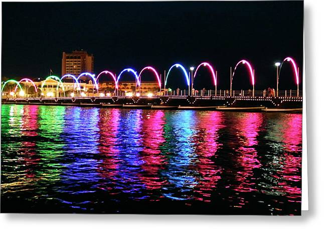 Greeting Card featuring the photograph Floating Bridge, Willemstad, Curacao by Kurt Van Wagner
