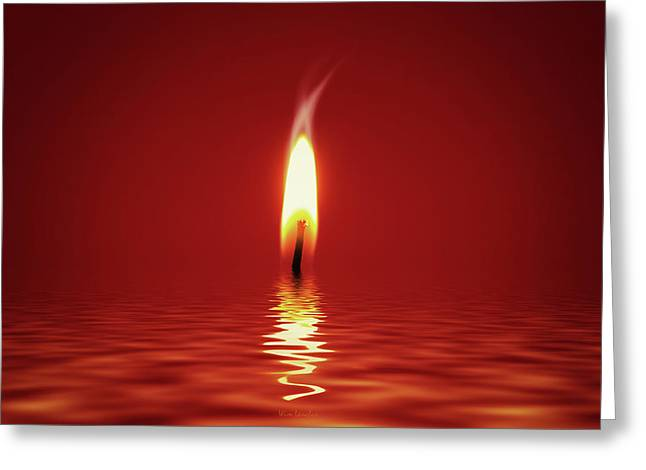 Floating Candlelight Greeting Card by Wim Lanclus