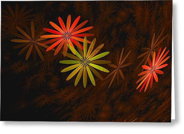 Floating Floral-008 Greeting Card by David Lane