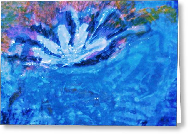 Floating Flower Greeting Card by Anne-Elizabeth Whiteway