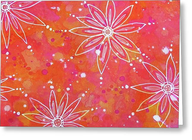 Floating Flowers Greeting Card by Desiree Paquette