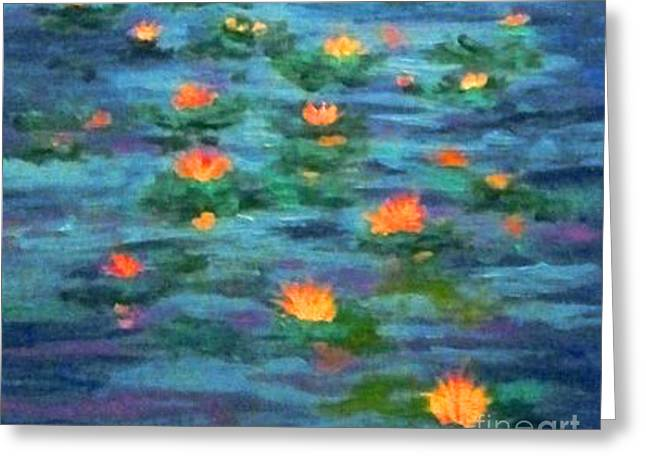 Floating Gems Greeting Card by Holly Martinson