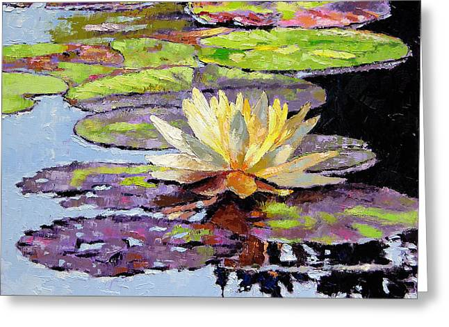 Floating Gold Greeting Card by John Lautermilch