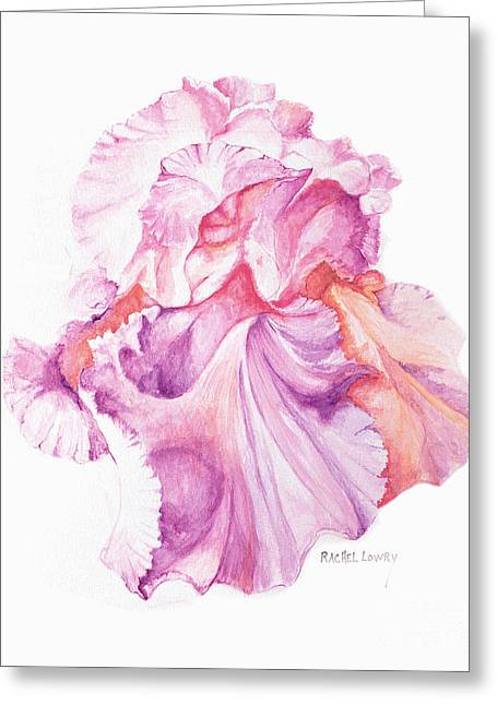 Floating Iris 1 Greeting Card